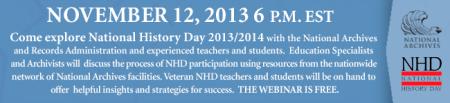 NHD Webinar Banner