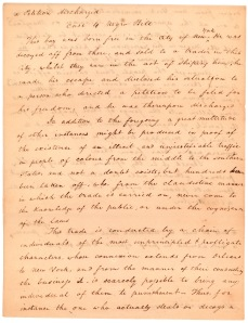 Letter from Elisha Tyson regarding kidnapped free blacks, December 5, 1811, page 3.