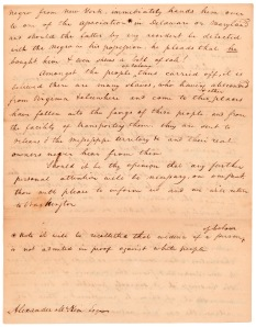 Letter from Elisha Tyson regarding kidnapped free blacks, December 5, 1811, page 4.
