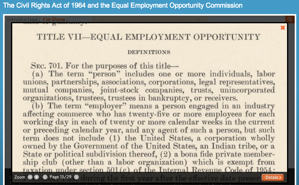 Title VII of the Civil Rights Act of 1964 Essay Sample