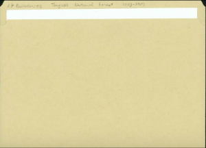 File folder example from The National Archives at Anchorage.
