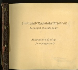 Einsatzstab Reichsleiter Rosenberg (ERR) Photograph Album Number Fifteen, National Archives Identifier: 7349319
