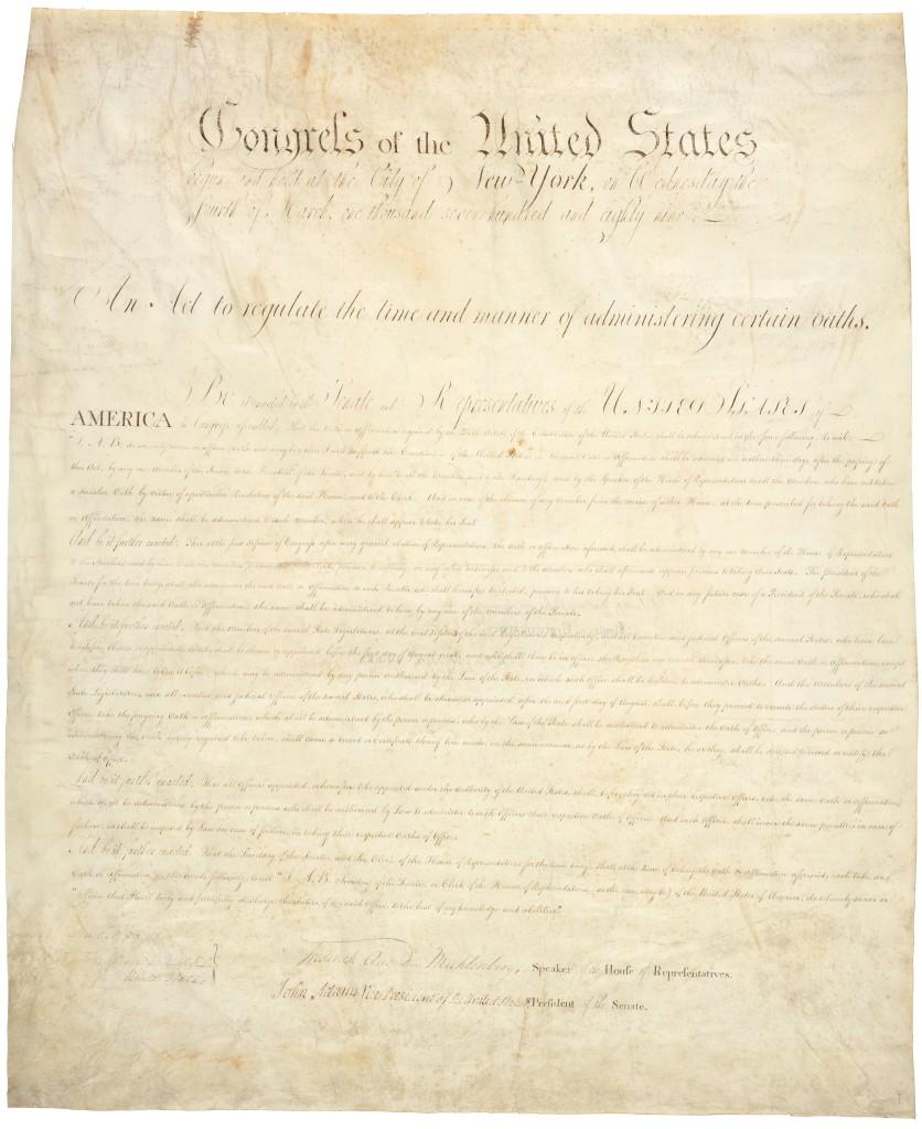 Oath Act, 1789 RG 11, web