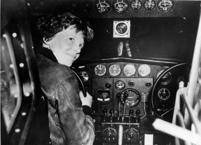 Amelia Earhart prior to last takeoff, ca. 1937. Archives Identifier 670861