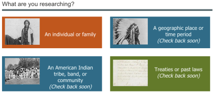 Researching American Indians Page