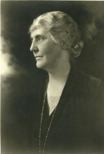 Portrait of Lou Henry Hoover, ca. 1929, photo-print by Berton Crandall Palo, Alto, California. Courtesy of the Hoover Library.