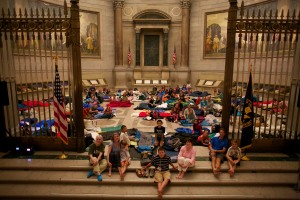 Sleepover in the Rotunda