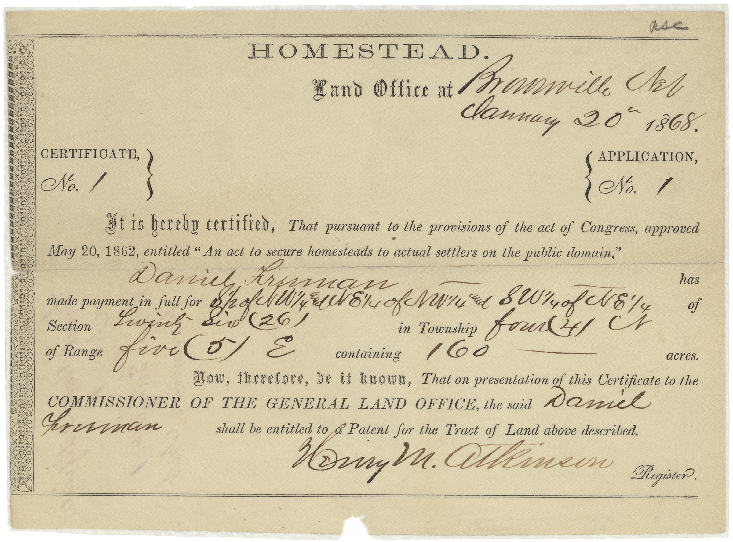 Settling the west education updates for Is there still a homestead act