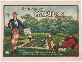 Uncle Sam Says, Garden to Cut Food Costs, 1917. From the Publications of the U.S. Government. National Archives Identifier: 5711623