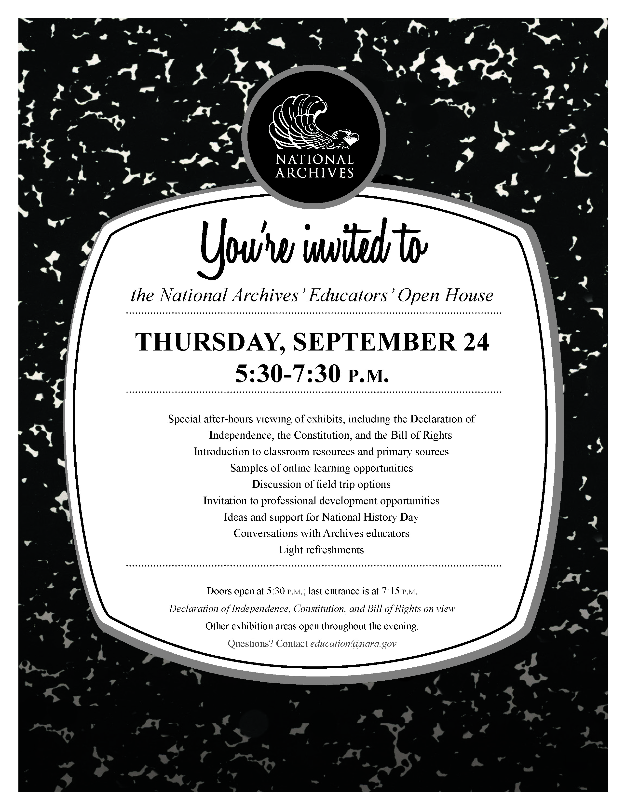 word Open House Flyer