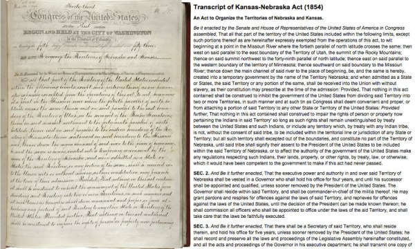 Partial Transcript of Kansas-Nebraska Act