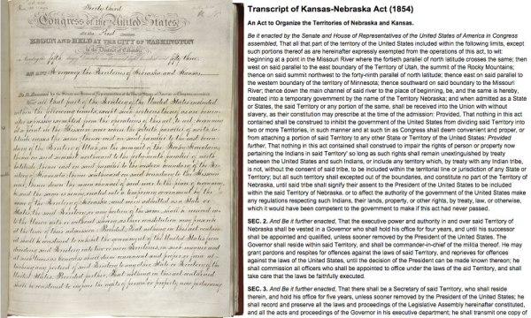 Partial Transcript of Kansas-Nebraska Act