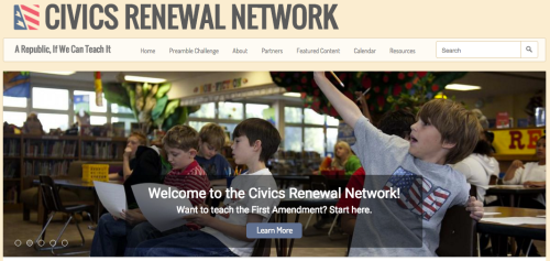 Civics Renewal Network home page