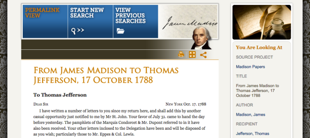 Letter from James Madison to Thomas Jefferson on October 17, 1788