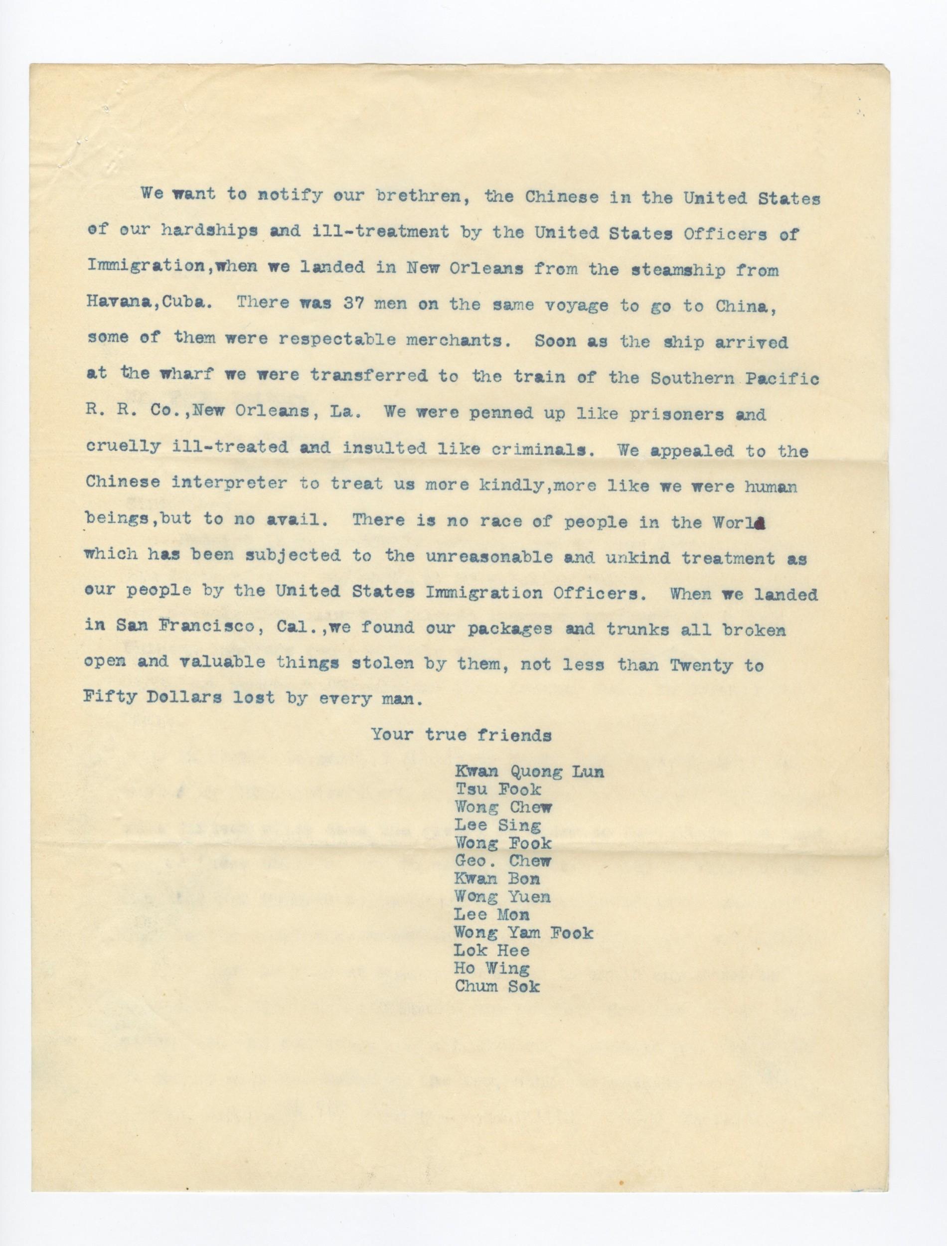 Immigration Records 1970s Translation