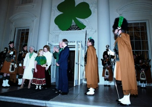 Jimmy Carter and Rosalynn Carter at the St. Patrick's Day Party