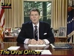 President Reagan at Desk
