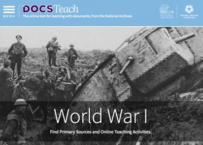 DocsTeach WWI page