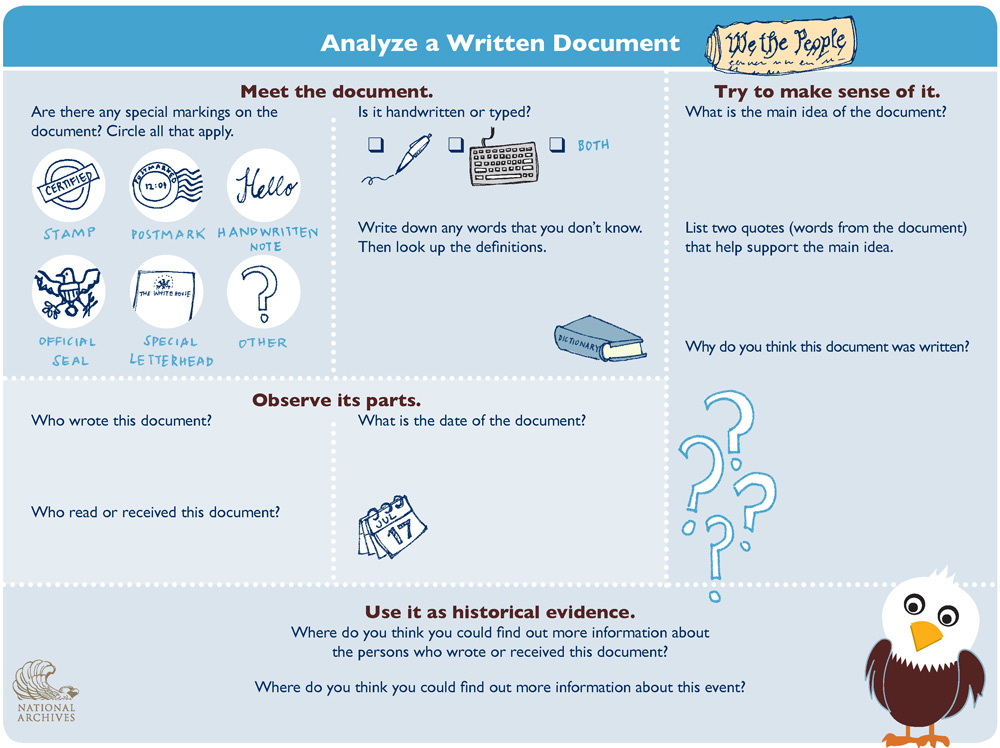 Document Analysis Worksheets Worksheets for all | Download and ...